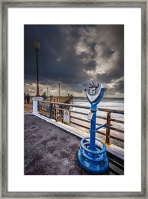 Gazing Out Framed Print by Peter Tellone
