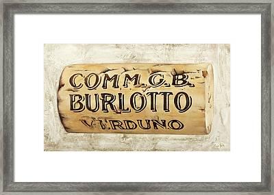 Gb Burlotto Framed Print
