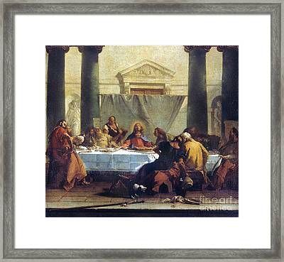 G.b. Tiepolo: Last Supper Framed Print by Granger