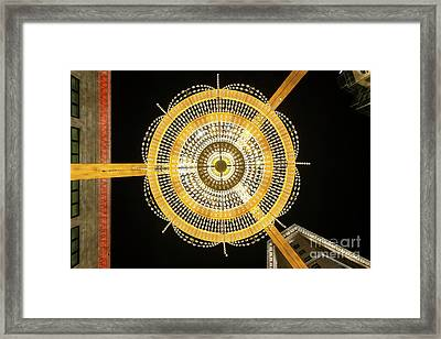 Ge Playhouse Chandelier Framed Print by Frank Cramer