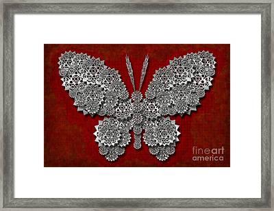 Gear Butterfly Framed Print