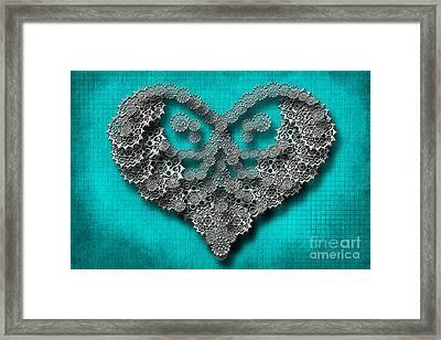 Gear Heart Framed Print