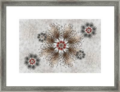 Gear Lace Framed Print