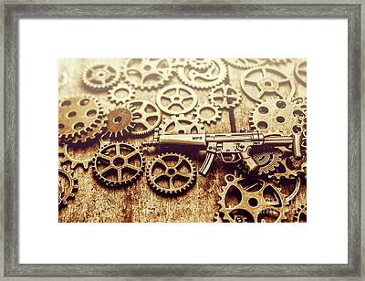 Gear Of Weapon Design Framed Print