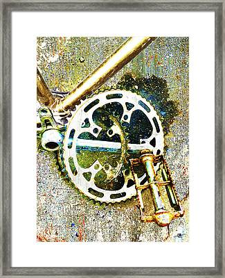 Framed Print featuring the mixed media Gear by Tony Rubino