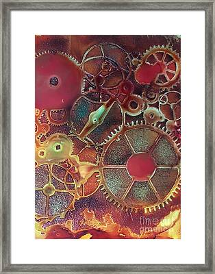 Gear Works Framed Print by Suzanne Canner