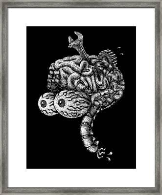 Gearhead Framed Print by Bomonster