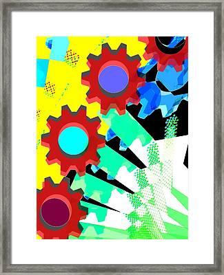 Gears 5/ Flowers Framed Print