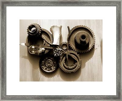 Gears IIi Framed Print by Jan Brieger-Scranton