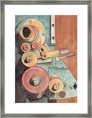Gears Framed Print by Ken Powers