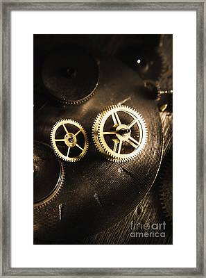 Gears Of Automation Framed Print