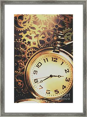 Gears Of Time Travel Framed Print