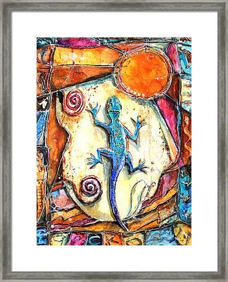 Gecko Framed Print by Patricia Allingham Carlson