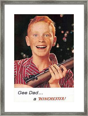 Gee Dad A Winchester Framed Print
