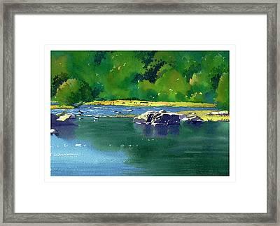 Geese On The Rappahannock Framed Print