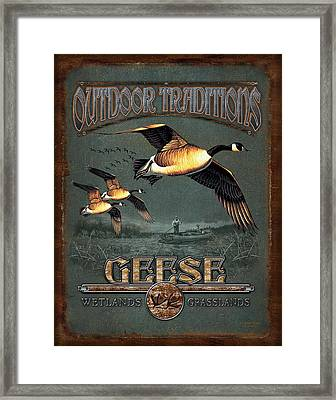 Geese Traditions Framed Print by JQ Licensing