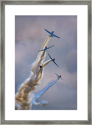 Framed Print featuring the photograph Geico Skytypers Tree Of Smoke by Rick Berk