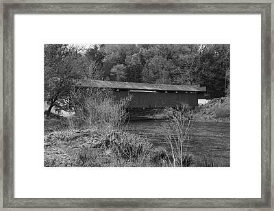 Geiger Covered Bridge B/w Framed Print