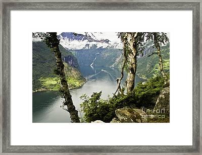 Geiranger Fjord Framed Print by Heiko Koehrer-Wagner