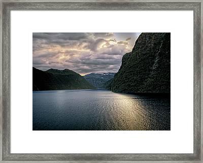 Geiranger Fjord Framed Print by Jim Hill