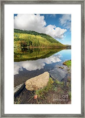 Geirionydd Lake Wales Framed Print by Adrian Evans