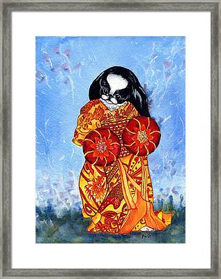 Geisha Chin Framed Print by Kathleen Sepulveda