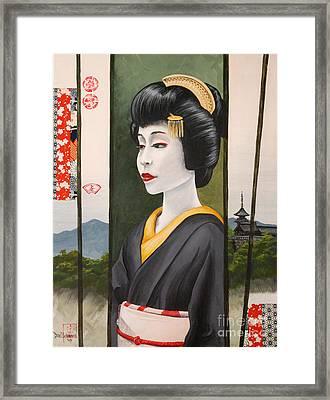 Geisha Framed Print by Dee Youmans-Miller