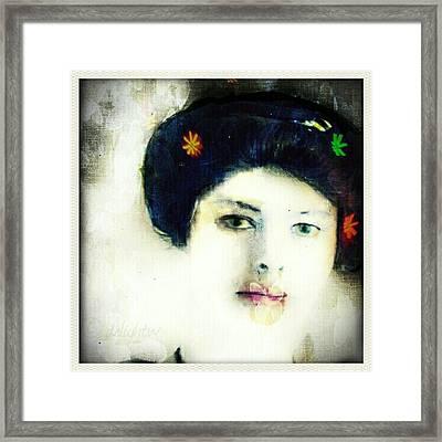 Framed Print featuring the digital art Geisha by Delight Worthyn