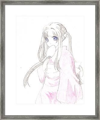 Geisha Girl Framed Print by Carlos Hyman