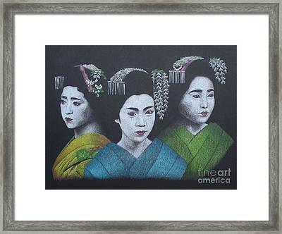 Geisha Girls Framed Print