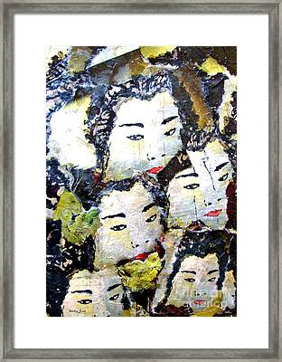 Geisha Girls Framed Print