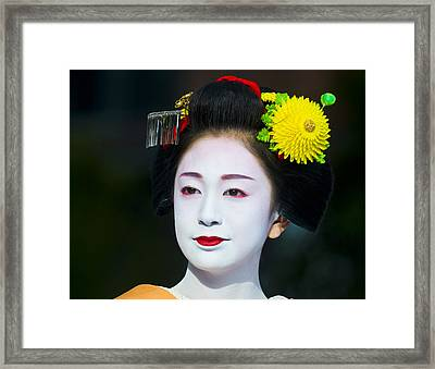Geisha  Framed Print by Kobby Dagan