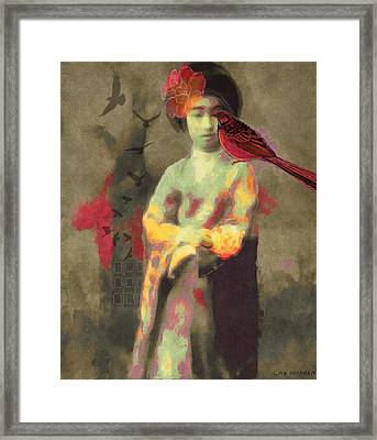 Geisha Framed Print by Lisa Noneman