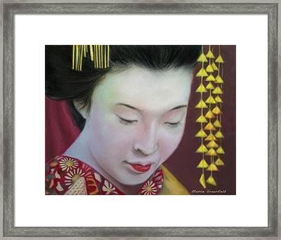 Geisha Framed Print by Mamie Greenfield