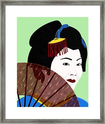 Geisha Framed Print by Melissa Stinson-Borg