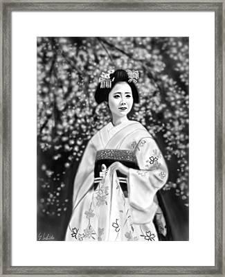 Geisha No.146 Framed Print by Yoshiyuki Uchida