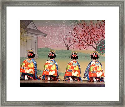 Geisha Row Framed Print
