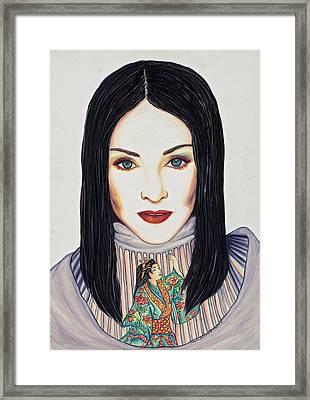 Geisha Walls Framed Print by Joseph Lawrence Vasile