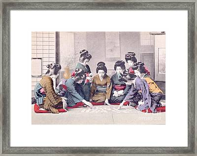 Geishas Framed Print