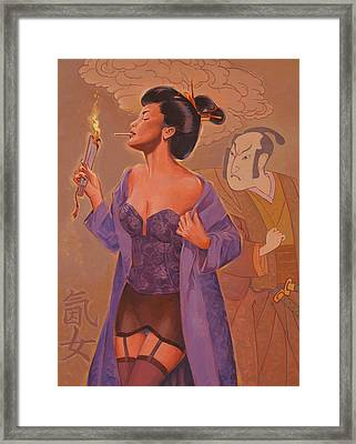 Geishas Gone Bad- Torch Song Framed Print