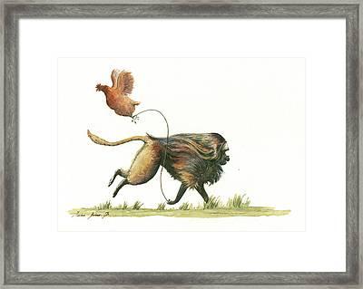 Gelada Monkey Framed Print