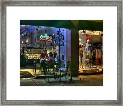 Gelato In La Jolla Framed Print