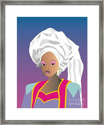 Gele Woman Framed Print by Walter Oliver Neal