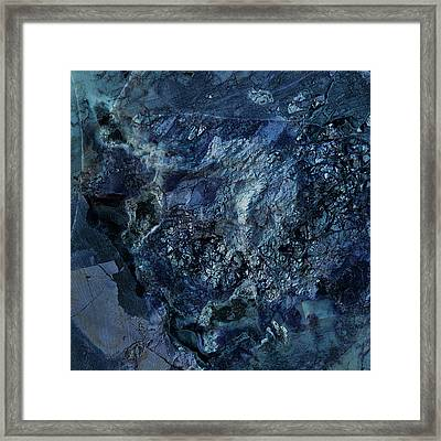 Gem 1 In Blue Framed Print by Sean Holmquist