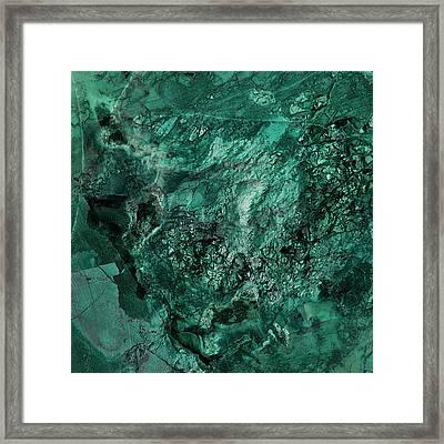 Gem 1 In Teal Framed Print