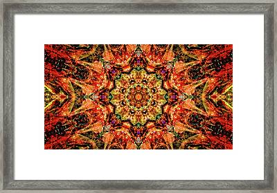 Gem Pattern Framed Print