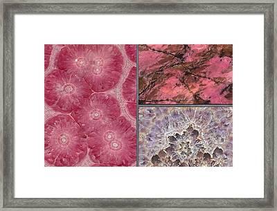 Gem Stone Decor - Modern Decor  Framed Print