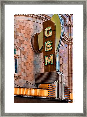 Gem Theater In Kansas City Framed Print