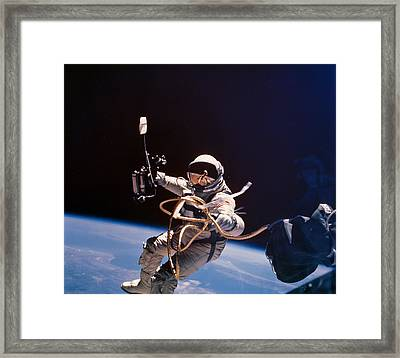 Gemini 4 Astronaut Edward H. White Framed Print by Nasa
