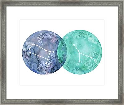 Gemini And Cancer Framed Print by Stephie Jones
